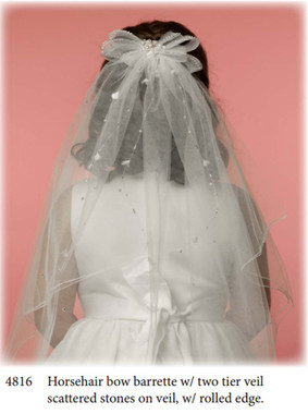 Nan & Jan Style 4816 - Headpiece & Veil Set  or Headpiece Only