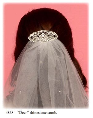 Nan & Jan Style 4868 - Headpiece & Veil Set  or Headpiece Only
