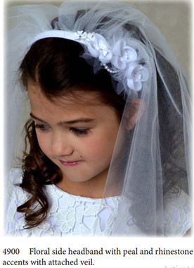 Nan & Jan Style 4900- Headpiece & Veil Set  or Headpiece Only