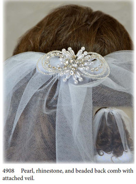 Nan & Jan Style 4908 - Headpiece & Veil Set  or Headpiece Only