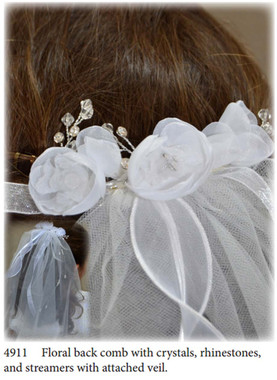 Nan & Jan Style 49011 - Headpiece & Veil Set  or Headpiece Only