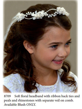 Nan & Jan Style 8709 - Headpiece & Veil Set  or Headpiece Only