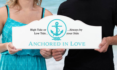 Anchored In Love Wedding Sign  - SI500 AL