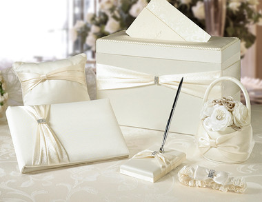 Guest Book Ivory Sash Wedding Set WS103 I
