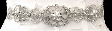 Noelle & Ava Collection - Rhinestone floral sash belt / hairband - 08