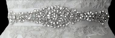 Noelle & Ava Collection - All rhinestones fashion look belt with teardrop rhinestones & marquis flowers - 13