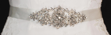 Noelle & Ava Collection - Dimensional Rhinestone Belt with Large Crystal accent - 35