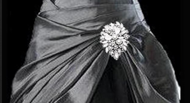 Noelle & Ava Collection - Extraordinary leave shape rhinestone flowers with marquise leaves, dual use broach/buckle - 39