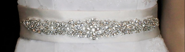 Noelle & Ava Collection - Large pear cut and marquise rhinestones, decorated with shiny bugle beads and seed beads - 47