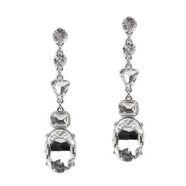 Mariell Multi Shaped Linear Dangle Earrings 4517E-CR-S