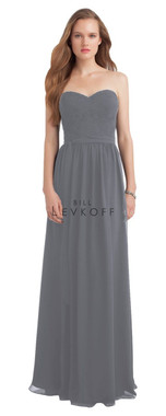 Bill Levkoff Bridesmaid Dress Style 1174 - Quick Ship - Pewter - Size 16 Extra Length