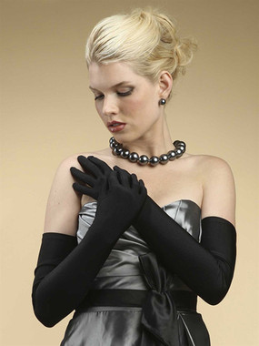 Opera Length Wedding or Prom Gloves - Matte Satin 824GL