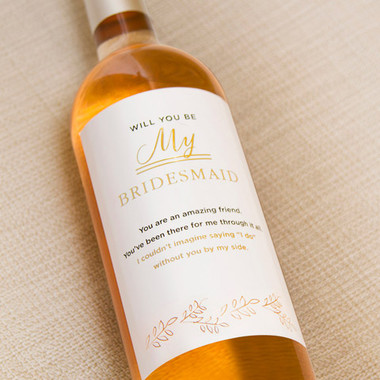 6 Maid of Honor & Bridesmaid Wine Bottle Labels