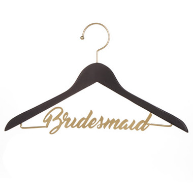 "David Tutera™ Black & Gold ""Bridesmaid"" Chalkboard Hanger"