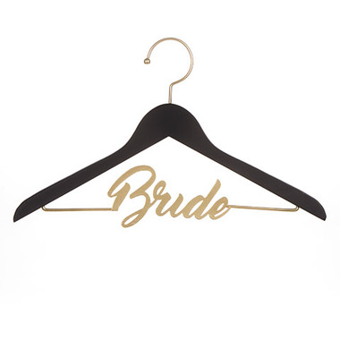 "David Tutera™ Black & Gold ""Bride"" Wedding Dress Chalkboard Hanger"