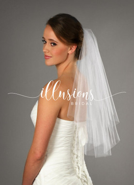"Illusions Bridal Veils Style Style Number: C7-252-CT - 20""x25"" Cut (72"" wide, circular)."