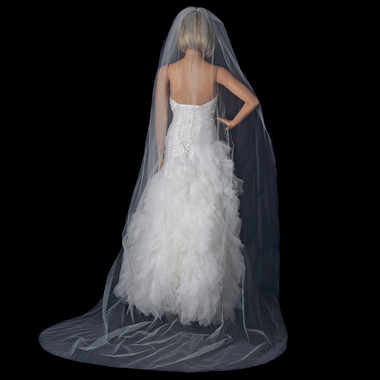 Single Layer Cathedral Cut Edge Length Veil Style VC 1C