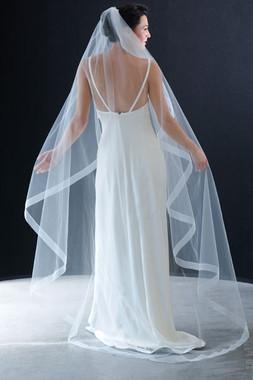 Erica Koesler Veils- Style 796-80 - Organza ribbon edge