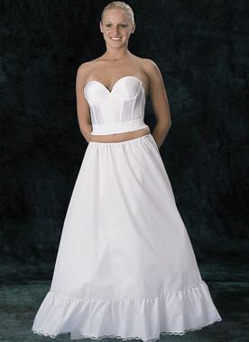 A-Line Draw String Waist Petticoat - White