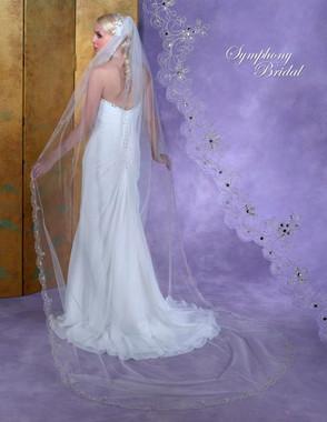 Symphony Bridal Veil - Style 6161VL -Cathedral Embellished Veil
