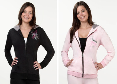 Bride Hooded Jacket by Lillian Rose - Pink or Black -BW630 LB