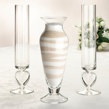 Glass Unity Sand Vase Set by Lillian Rose - US101