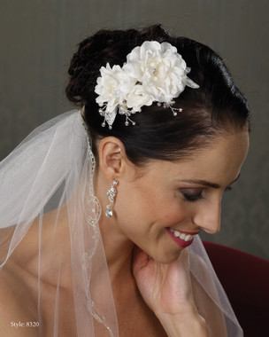 Marionat Bridal Headpieces 8320 - FAST SHIP - IVORY ONLY