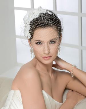 Bel Aire Bridal  6225 - Alençon French net blusher