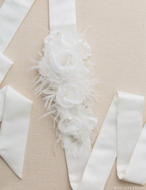 Bel Aire Bridal Belt BT012 - Chiffon Belt