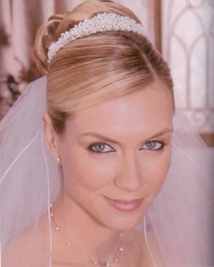 Bel Aire Bridal Wedding Veil V8178- Two Tier Rolled Edge