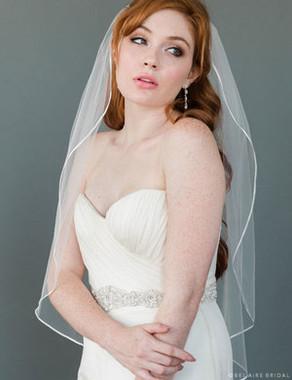 "Bel Aire Bridal Wedding Veil V9999 - 1/8"" Ribbon Edge - Quick Ship"