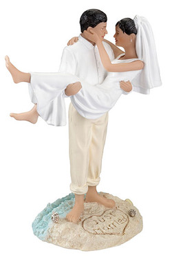 Beach Couple Figurine (Hispanic, African-American and Caucasian)