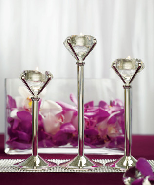 Diamond Shaped Tealight Holders(3 Included w/price)