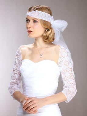 Lace Bridal Bolero Wedding Jacket with 3/4 Length Sleeve