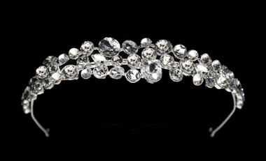 Noelle & Ava - Rhinestone Head Band Of Assorted Size Brilliant Round Rhinestones Accented With Marquise