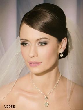 Bel Aire Bridal Wedding Veil V7055 Fingertip Veil