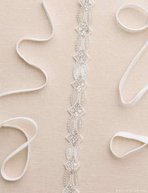 Bel Aire Bridal Belt BT046 - Beaded Pearl Belt