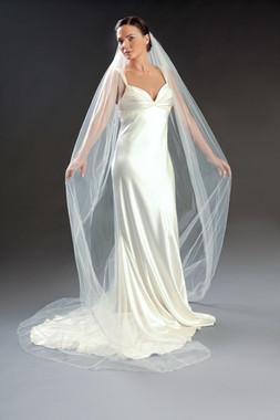 "Erica Koesler Wedding Veil 801-120 - 120"" inches long"