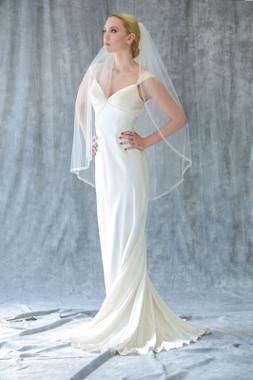 Erica Koesler Wedding Veil 821-40 - Three Rows of beading