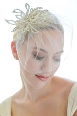 Erica Koesler Wedding Veil 825 - RHINESTONE FASCINATOR