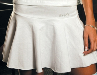 Bride Skirt with Clear Rhinestone