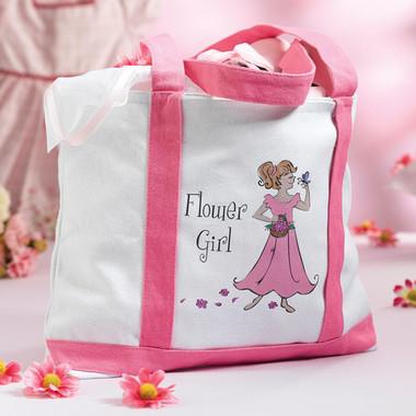 Flower Girl Large Nylon Tote Bag - WG150 FG