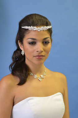 Ansonia Bridal Headpiece 8209 - Heavy Beaded - 2013 Collection