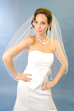 "Ansonia Bridal Veil Style 153L - Cathedral - 108"" Long"