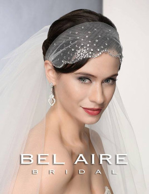 Bel Aire Bridal Accessory Headwrap 6374