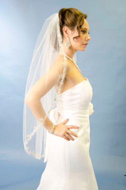Ansonia Bridal Veil Style 176L - Cathedral Veil - 108""