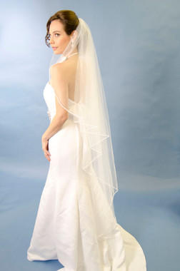 Ansonia Bridal Veil Style 208L - Vermicelli Edge Veil