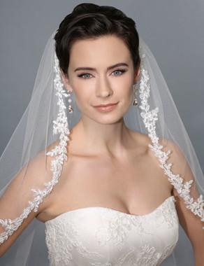 Bel Aire Bridal Style 7165  - Alencon Lace Edge Veil