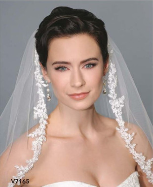 Bel Aire Bridal Style 7165C  - Cathedral  Beaded Lace Edge Veil