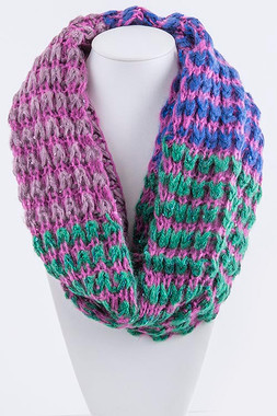 Special Occasion Green Multi Colored Infinity Scarf